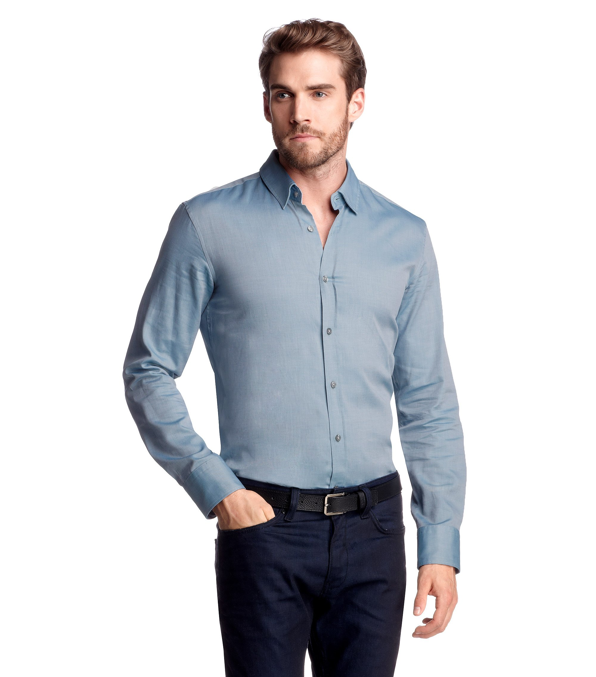 Slim-Fit Freizeit-Hemd ´RONNY`, Hellblau