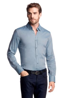 Slim fit vrijetijdsoverhemd ´RONNY`, Lichtblauw