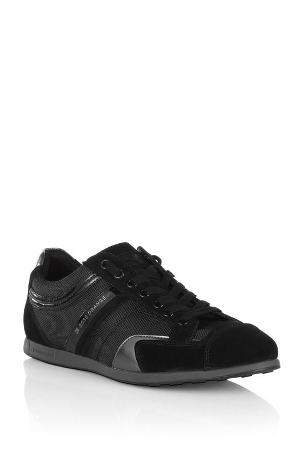 sneaker in leather and textile 39 silvero 39. Black Bedroom Furniture Sets. Home Design Ideas