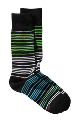Sokken ´RS Design` met streepdessin, Zwart