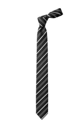 Cravate en soie, Tie 6cm, Noir