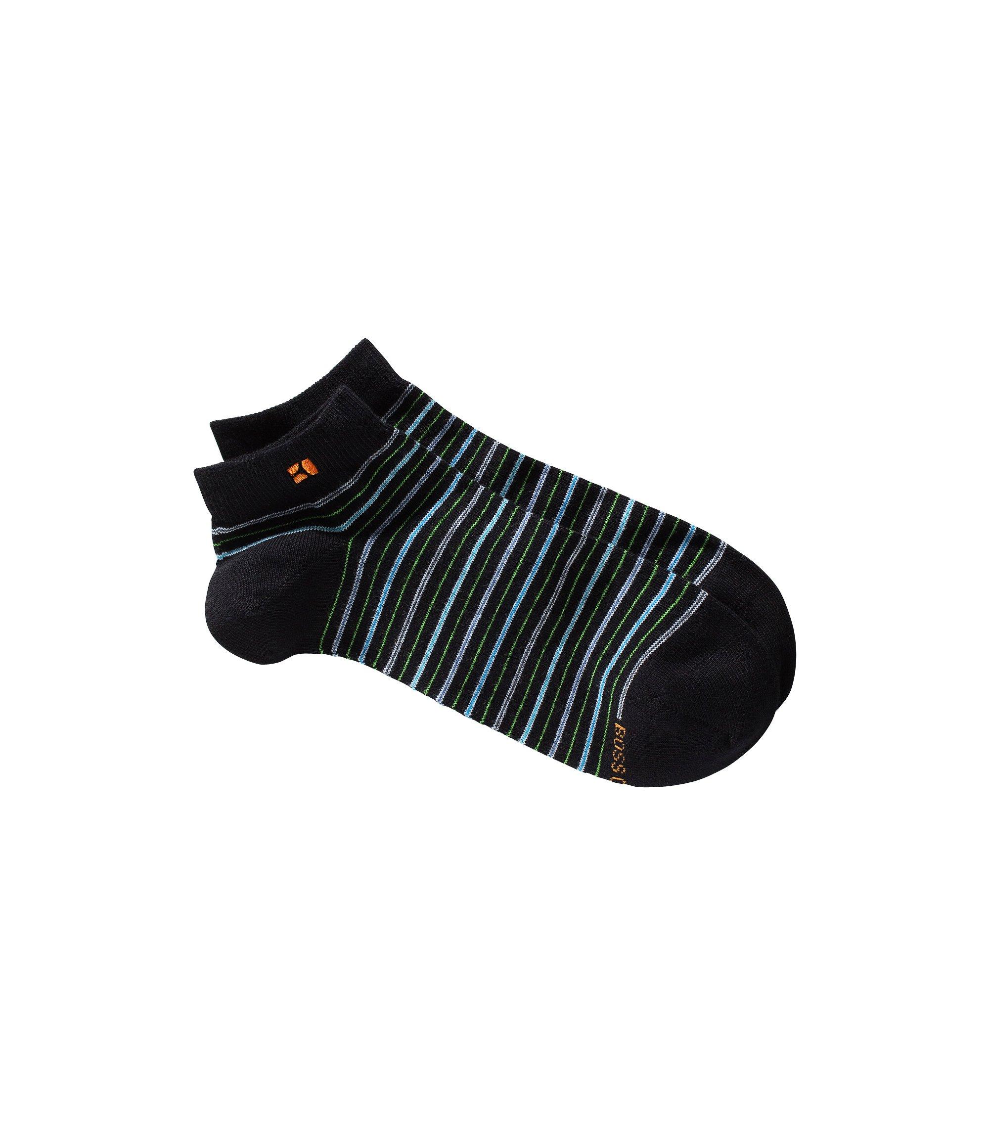 Designer-Socken ´AS Design` mit Streifen, Schwarz