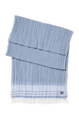 Schal ´Punon` aus Baumwoll-Mix, Hellgrau