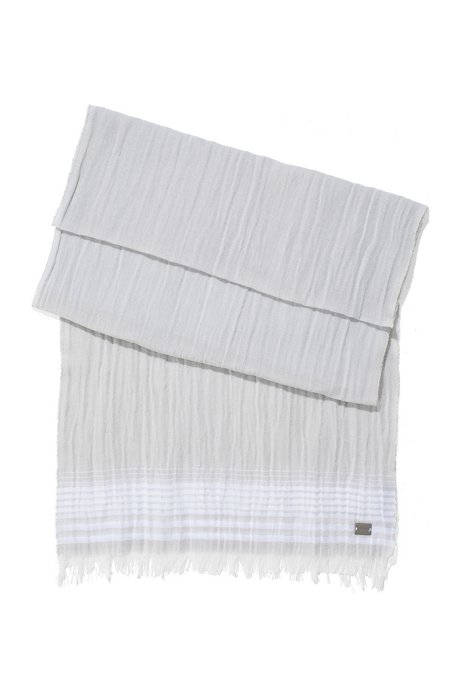 Blended cotton scarf ´Punon`, Open Grey
