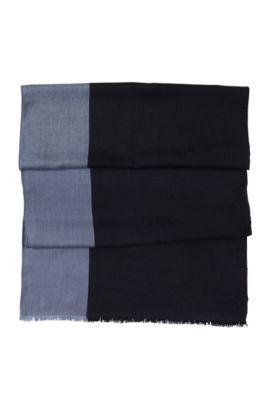 Designer-Schal ´Men-Z 301` aus reiner Wolle, Gemustert