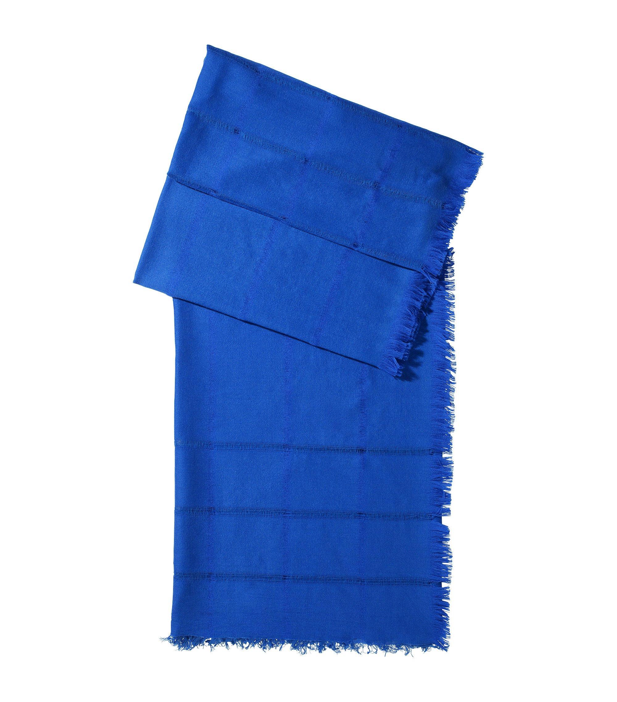 Designer-Tuch ´SC450` aus Woll-Mix, Blau