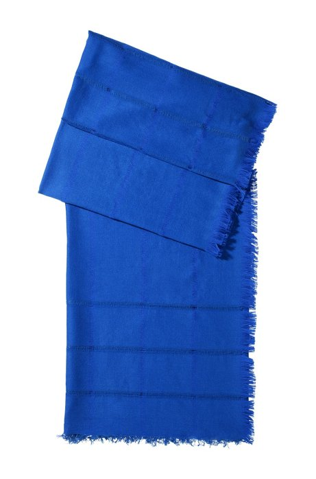 Designer scarf made of blended wool 'SC450', Blue