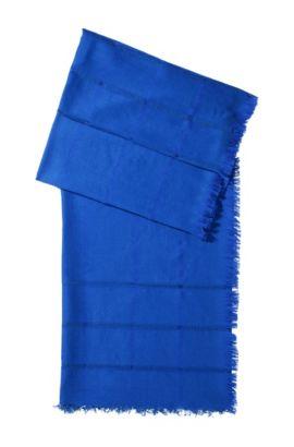 Foulard design en laine mélangée, SC450, Bleu