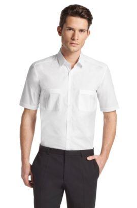 Chemise détente à col Kent, Exino, Blanc
