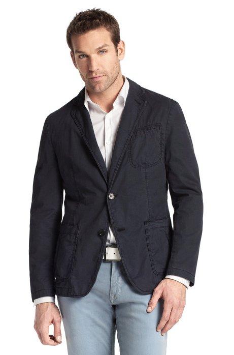 Cotton leisure jacket 'Milo-D', Open Blue