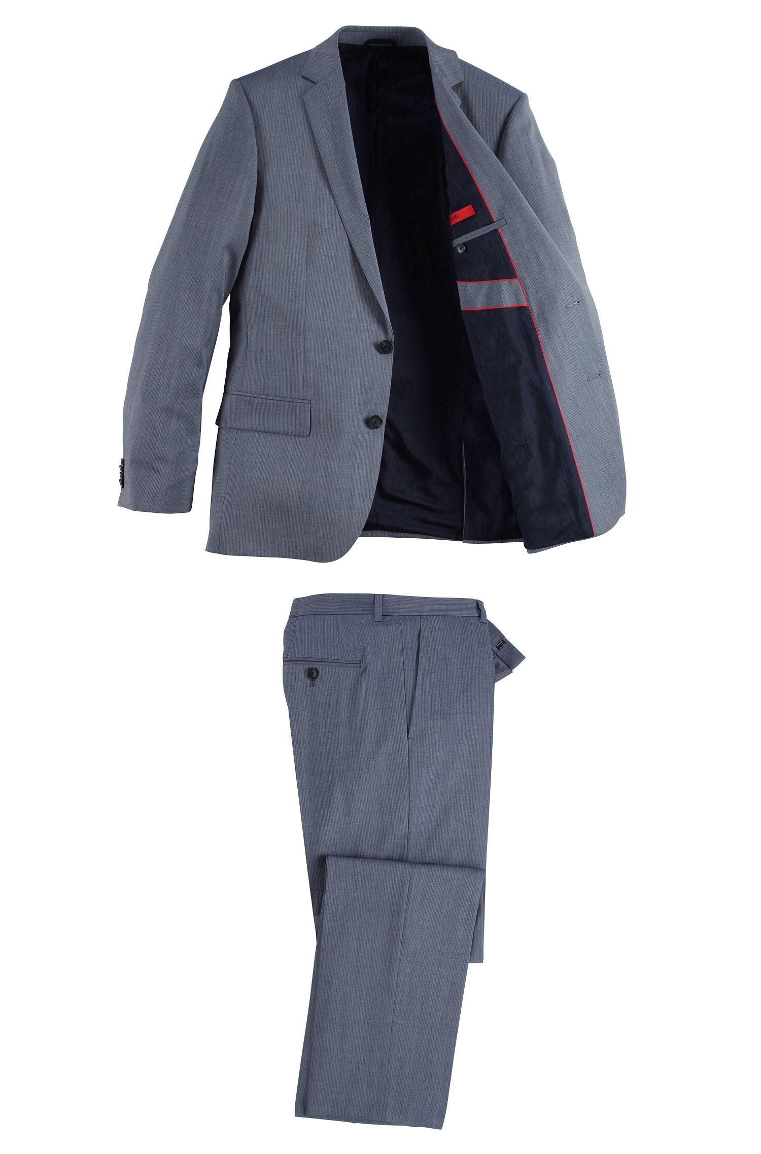 Costume Slim Fit en laine vierge, Amaro/Heise