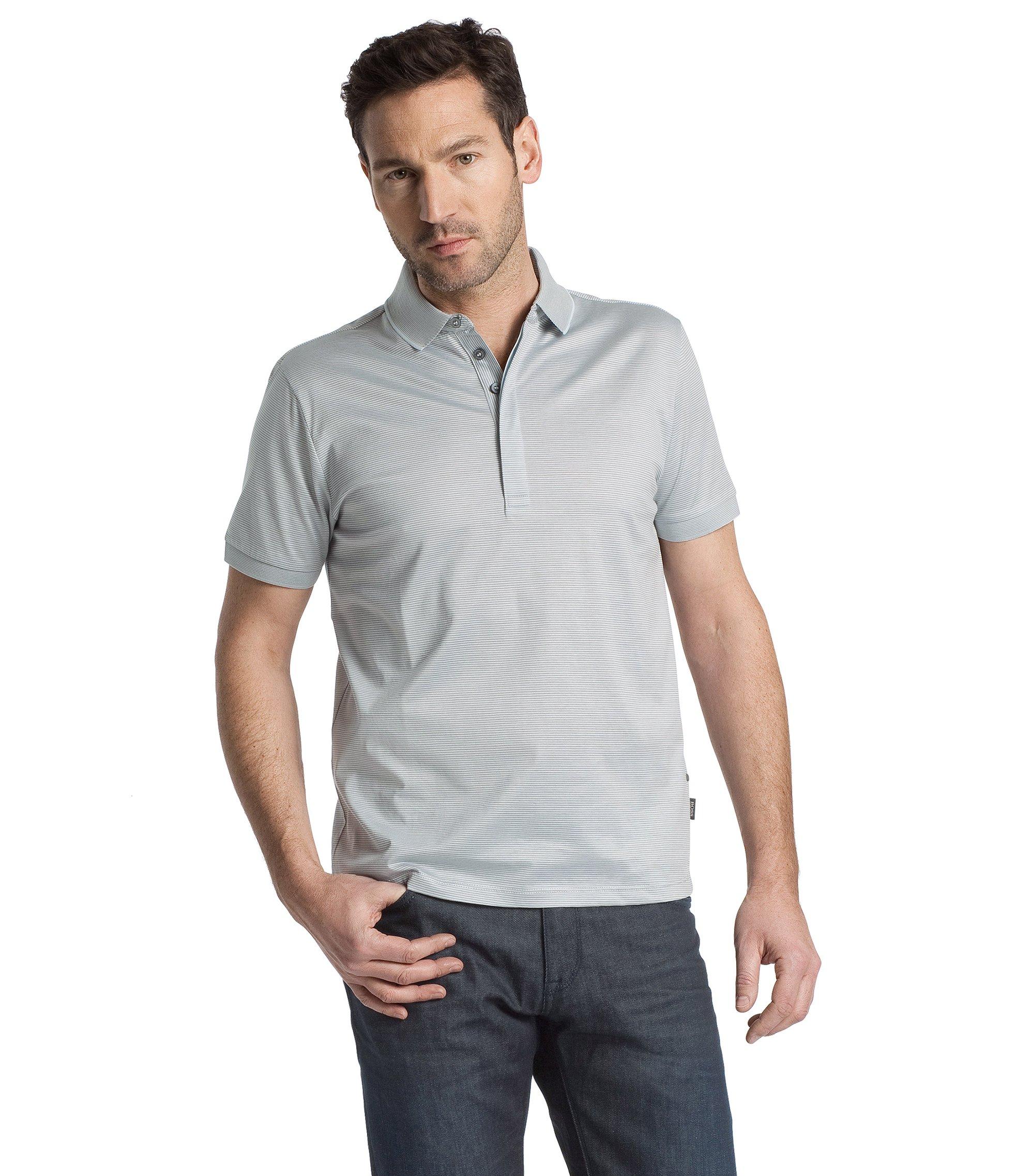 Polo-Shirt ´San Remo 05` im Streifen-Dessin, Dunkelblau