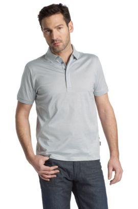 Poloshirt ´San Remo 05` met streepdessin, Donkerblauw