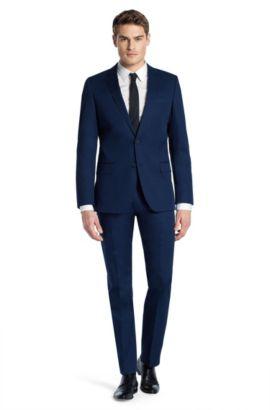 Slim fit kostuum ´Aiko1/Heise` van katoen, Donkerblauw
