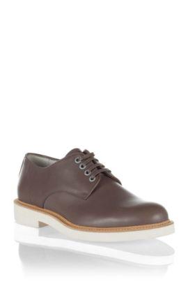 Chaussures design en cuir lisse, GRADIO, Gris sombre