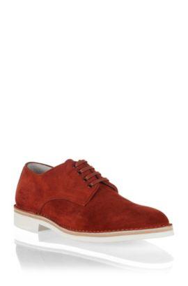 Chaussures détente en cuir, GRAMMOR, Rouge clair