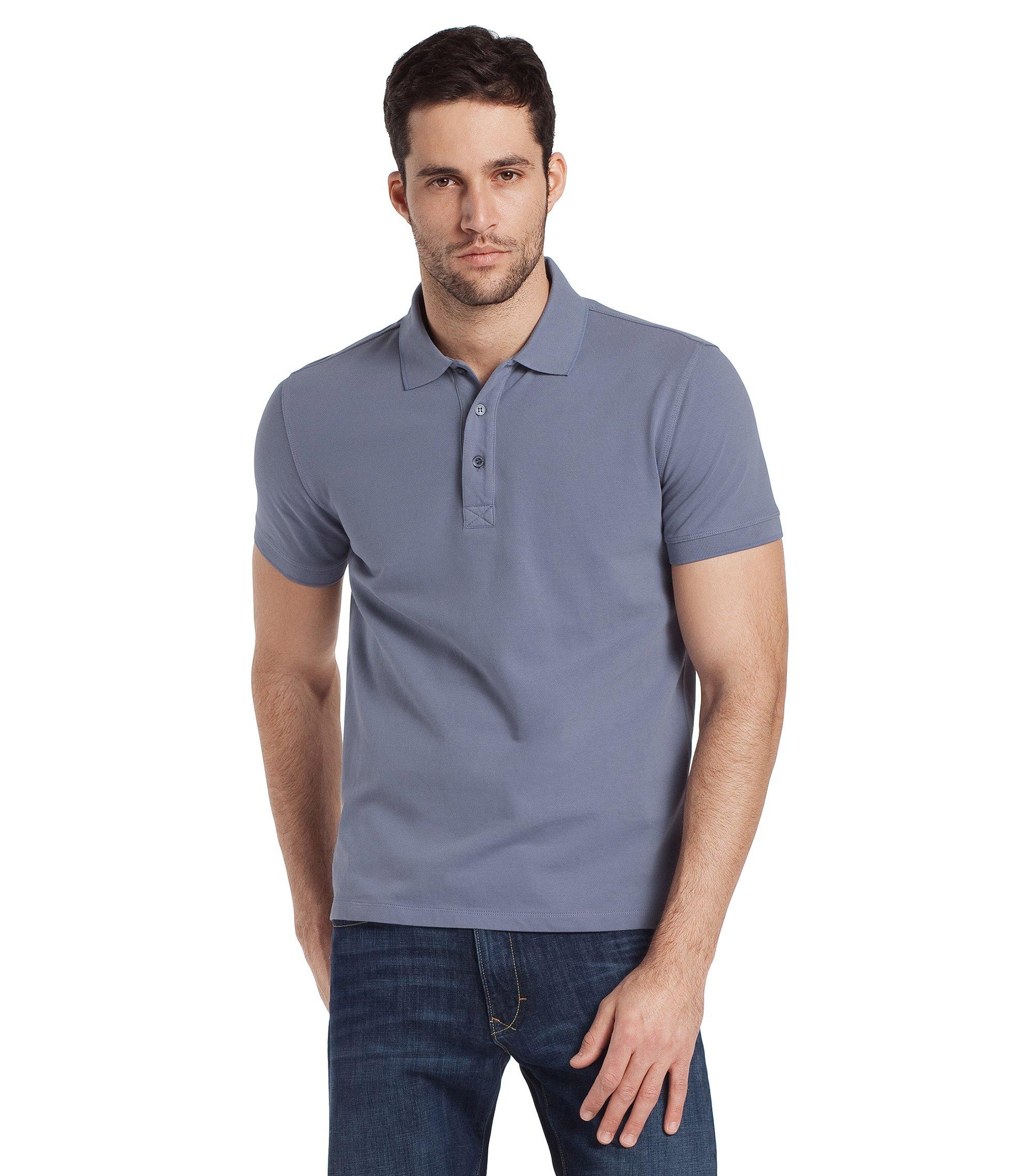 Poloshirt ´Forli` aus Baumwoll-Stretch, Hellgrau