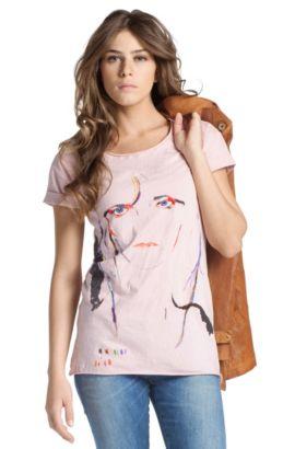 T-shirt à encolure ronde, Tatse, Violet clair