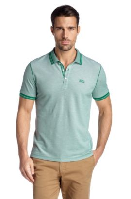 Polo Regular Fit, Bugnara 05 Modern Essential, Vert