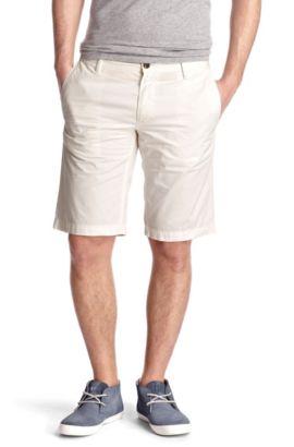 Regular fit casual Bermudas 'Schino-Shorts-D', White