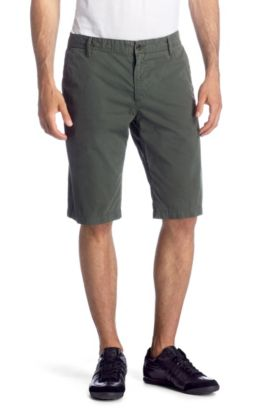 Bermuda détente Regular Fit, Schino-Shorts-D, Vert