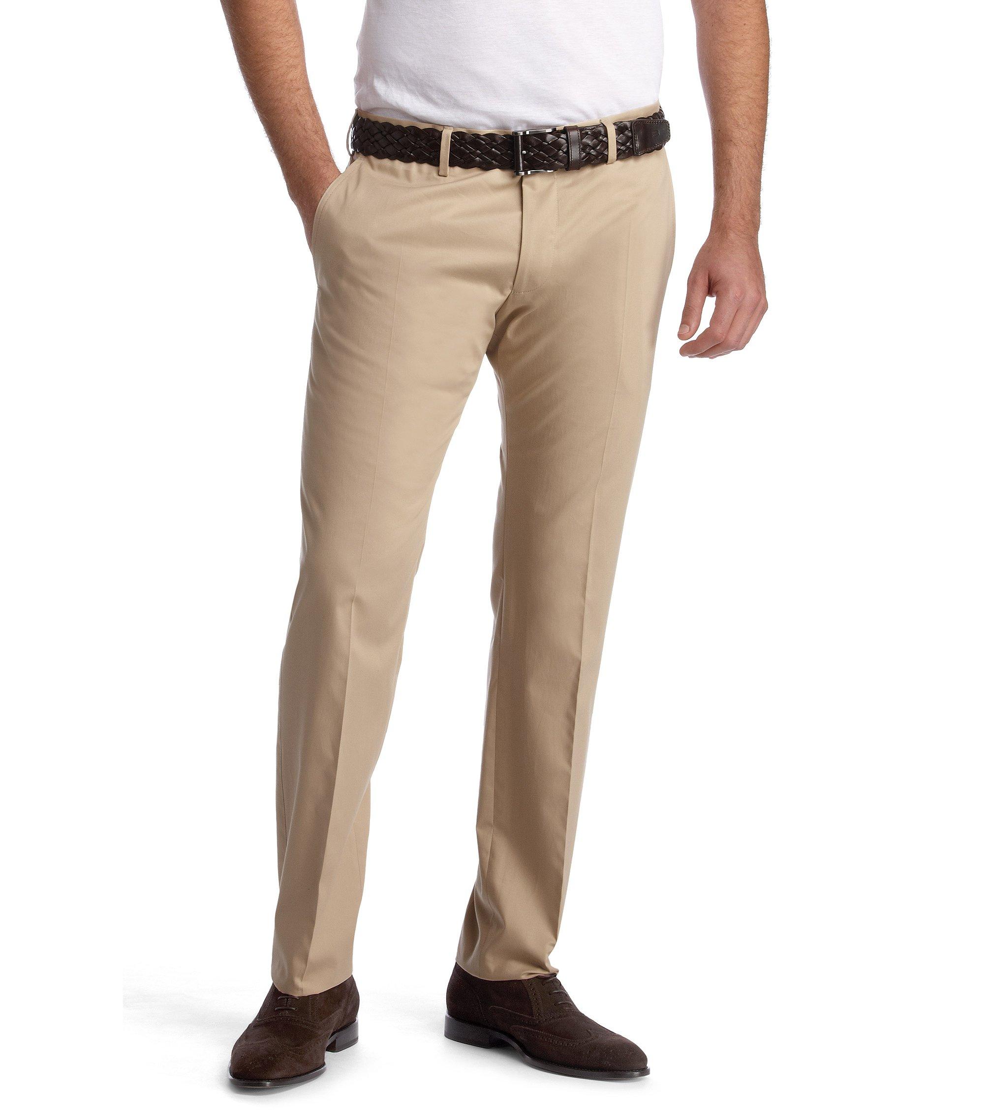 Hose ´Springer` aus glatter Baumwolle, Hellbeige