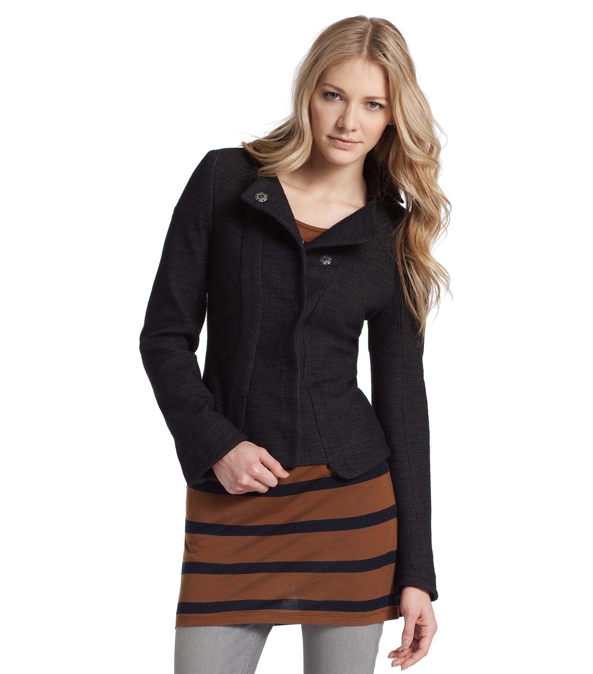 Korte jas ´Okersta` van een katoenmix, Bedrukt