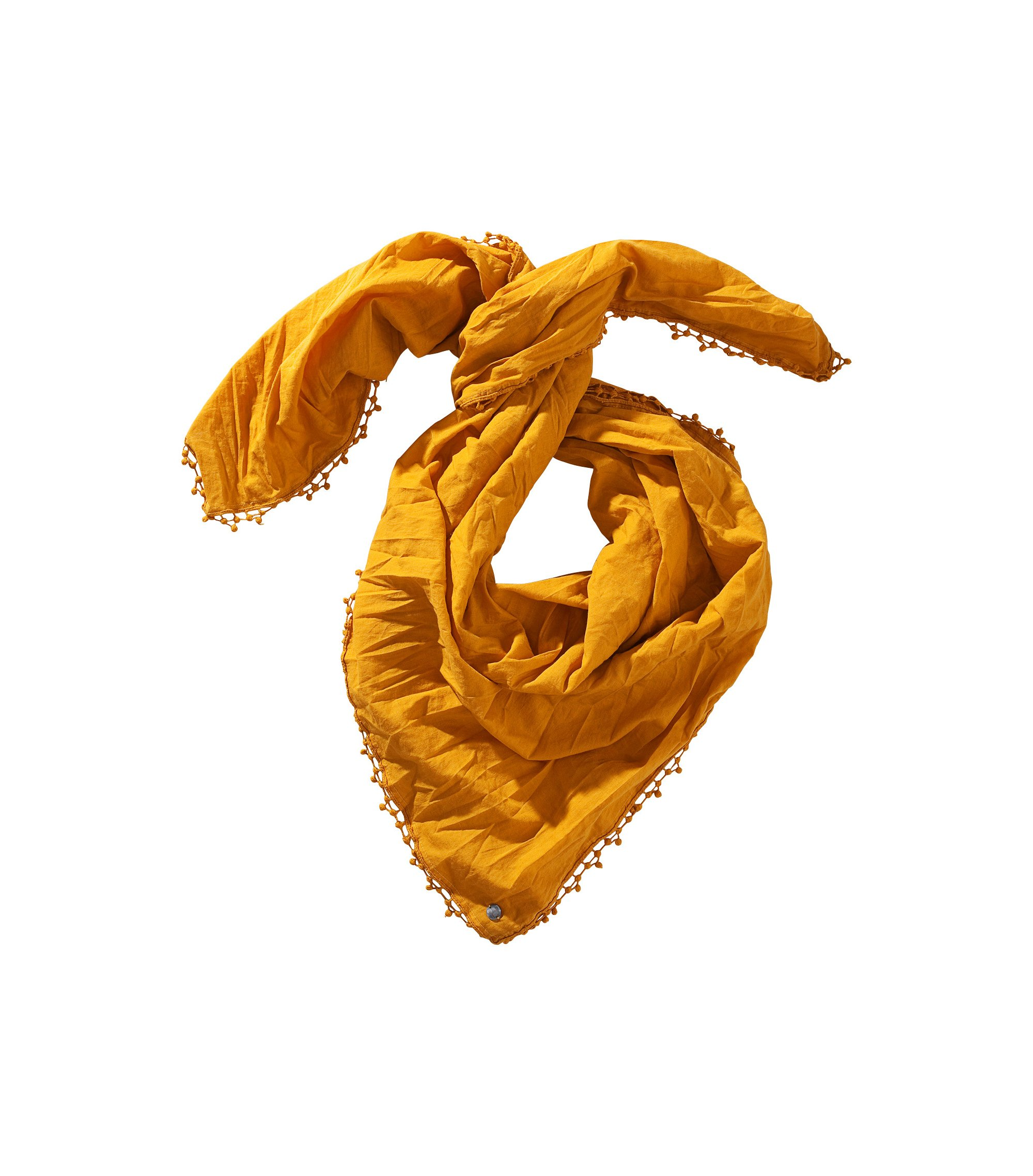 Tuch ´Nubase` aus Baumwolle, Dunkelgelb