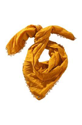 Sjaal ´Nubase` van katoen, Donkergeel