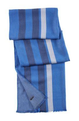 Designer-Schal ´Men-Z 303` im Streifen-Dessin, Blau