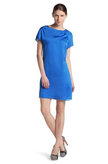 Pure silk dress 'Karleni-1', Blue