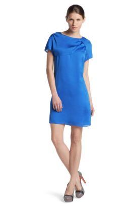 Robe en pure soie, Karleni-1, Bleu