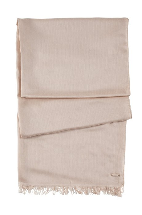 Modal scarf 'Women-Z 332', Light Beige