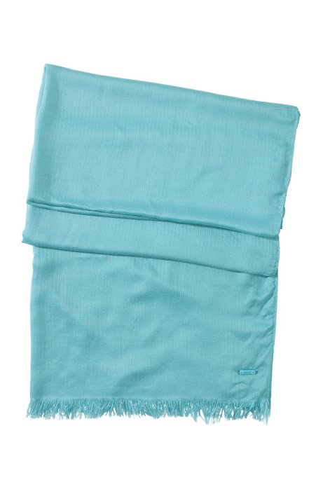 Modal scarf 'Women-Z 332', Light Blue
