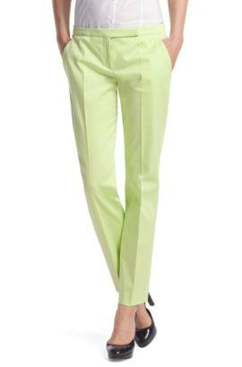 Pantalon en mélange de coton et d'élasthanne, Chaux