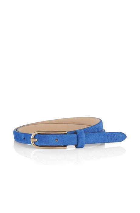Suede belt  'Namyla', Dark Blue