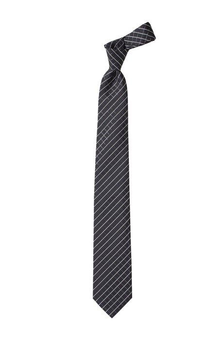 Fashion silk tie 'Tie cm 7,5', Anthracite