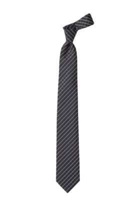 Cravate fashion en soie, Tie cm 7,5, Anthracite