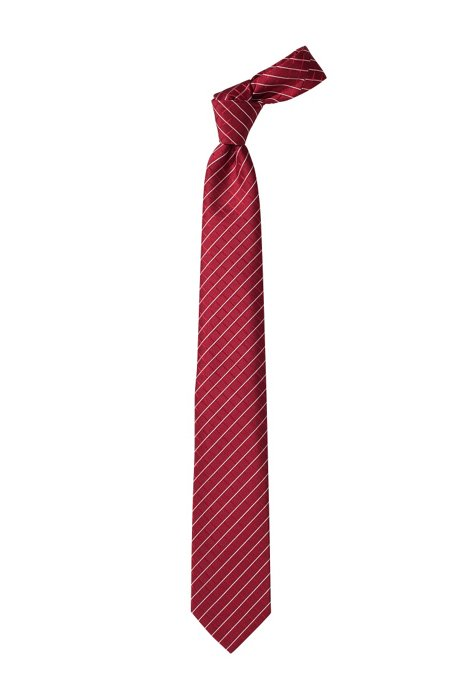 Fashion silk tie 'Tie cm 7,5', Dark pink