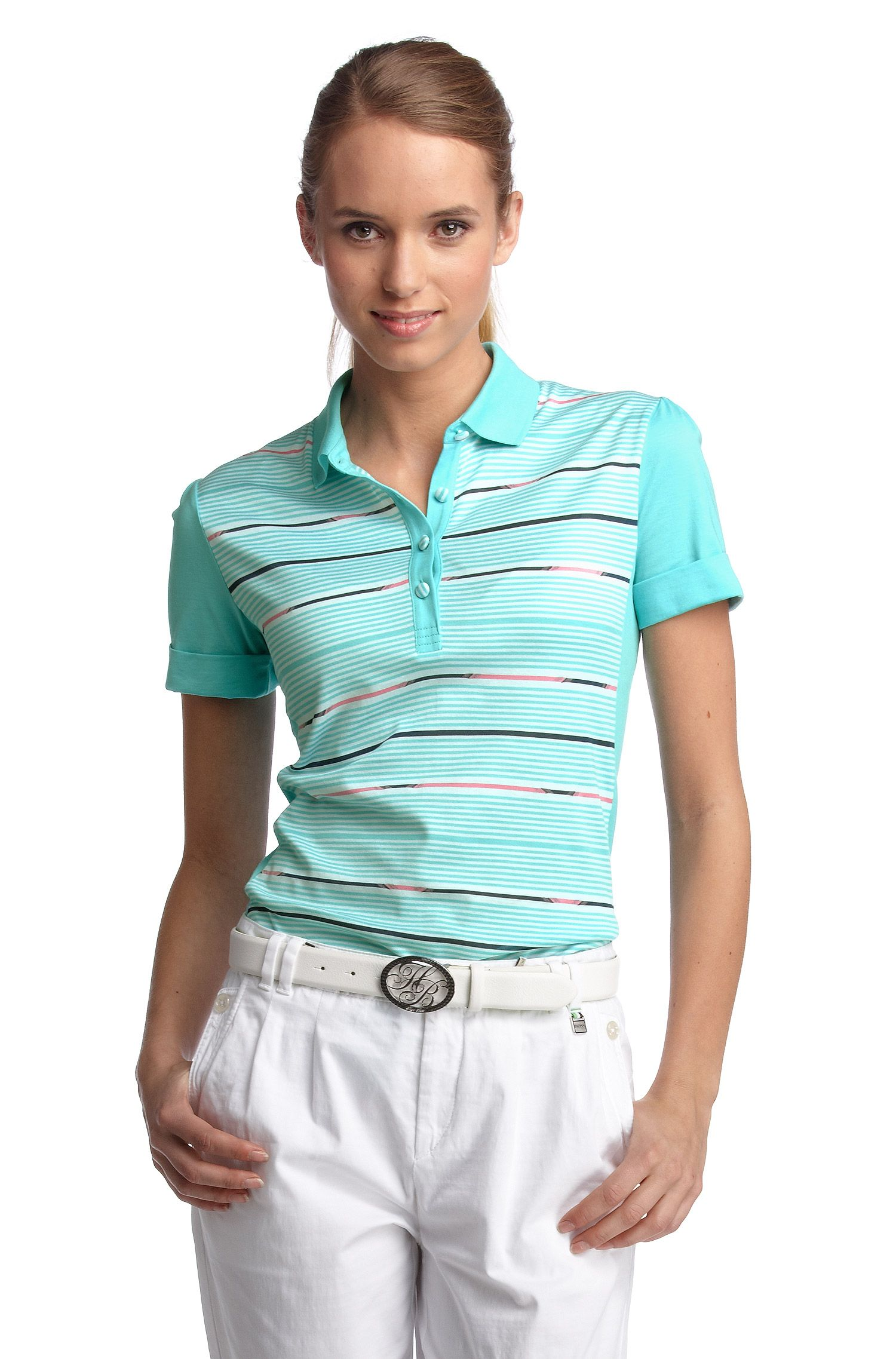 Poloshirt ´Pega` mit leichtem Puffärmel