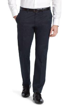Pantalon de costume en coton fin, Shadow4-W, Bleu foncé