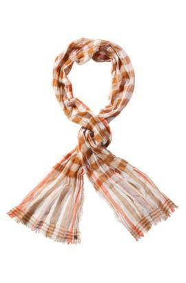 Schal ´Nek` aus Baumwolle, Braun