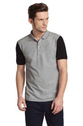 Modernes Poloshirt ´Ninos` aus Baumwoll-Mix, Dunkelgrau
