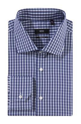 Businessoverhemd 'Geraldone' met cutaway-kraag, Donkerblauw
