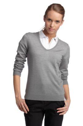 Pullover ´Viva` aus reiner Schurwolle, Hellgrau