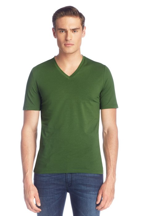 V-neck T-shirt 'Dredoso', Green