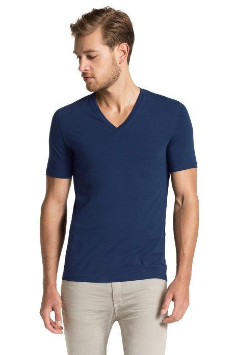 V-neck T-shirt 'Dredoso', Dark Blue