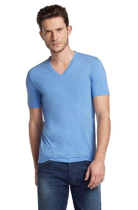 V-neck T-shirt 'Dredoso', Blue