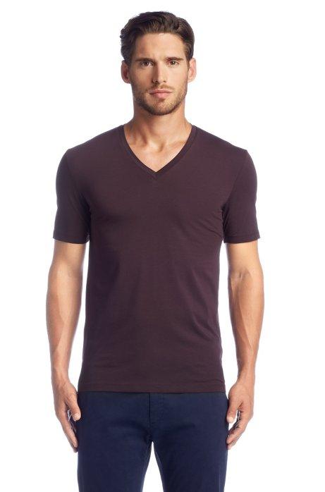 V-neck T-shirt 'Dredoso', Dark Red