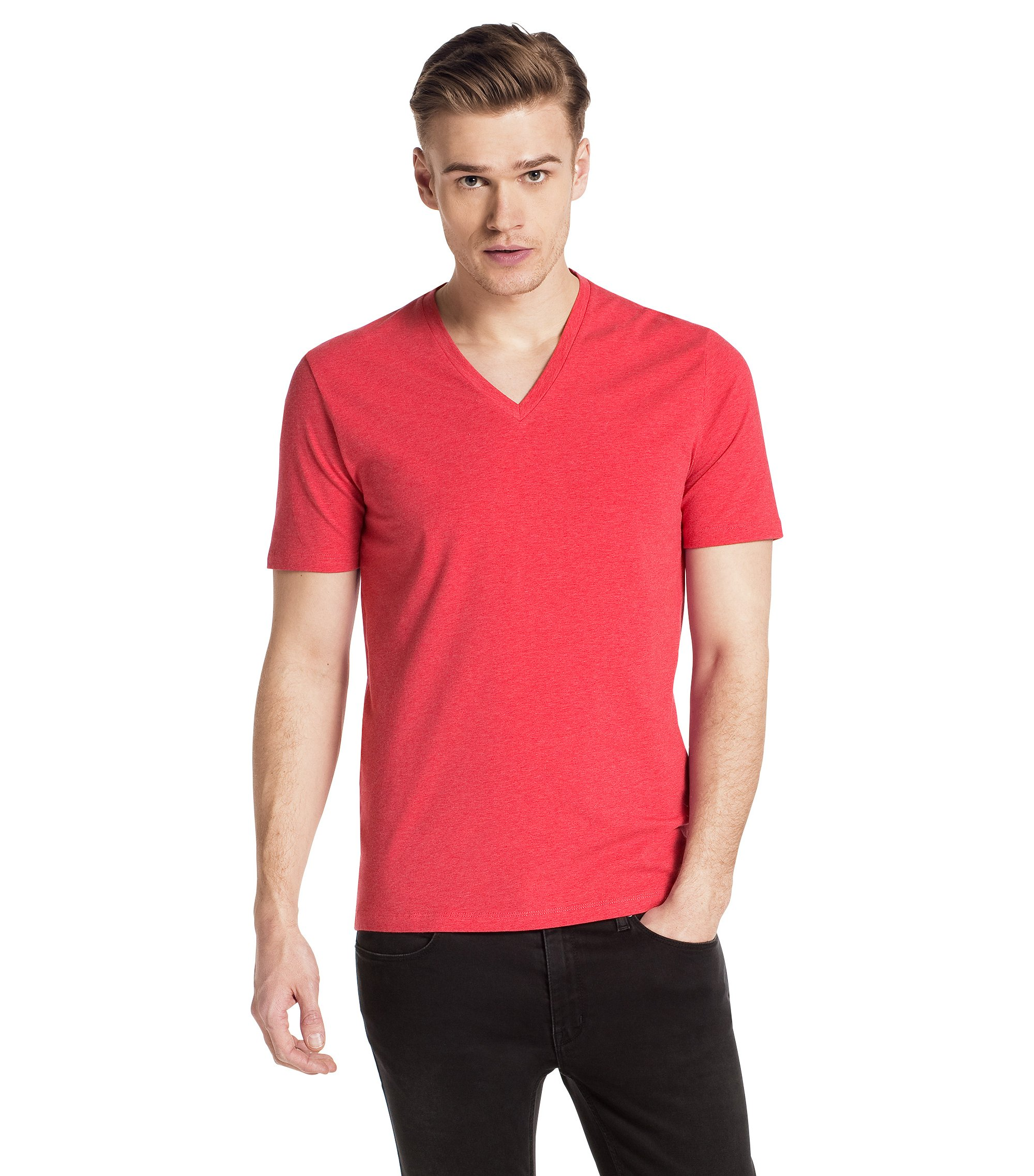 V-neck T-shirt 'Dredoso', Red
